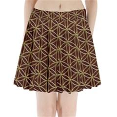 Flower Of Life Pleated Mini Skirt