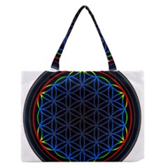 Flower Of Life Medium Zipper Tote Bag