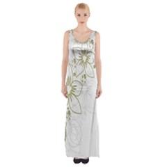 Flowers Background Leaf Leaves Maxi Thigh Split Dress