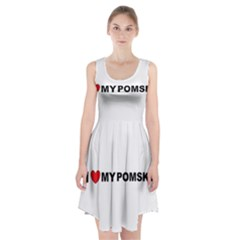 Pomsky Love Racerback Midi Dress