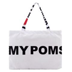 Pomsky Love Medium Zipper Tote Bag
