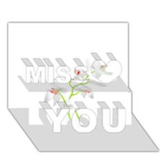Isolated Orquideas Blossom Miss You 3d Greeting Card (7x5)
