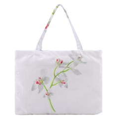 Isolated Orquideas Blossom Medium Zipper Tote Bag
