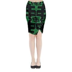 Show Me The Money Midi Wrap Pencil Skirt