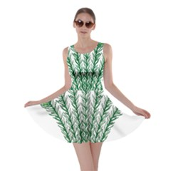 Heraldic Peacock Feathers Skater Dress