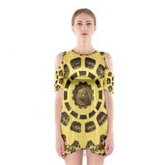 Gears Cutout Shoulder Dress