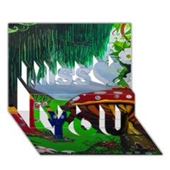 Kindergarten Painting Wall Colorful Miss You 3D Greeting Card (7x5)
