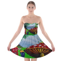 Kindergarten Painting Wall Colorful Strapless Bra Top Dress