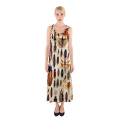 Insect Collection Sleeveless Maxi Dress