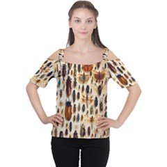 Insect Collection Women s Cutout Shoulder Tee