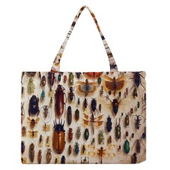 Insect Collection Medium Zipper Tote Bag