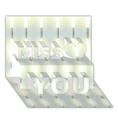 Lights Miss You 3D Greeting Card (7x5)