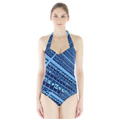 Mobile Phone Smartphone App Halter Swimsuit