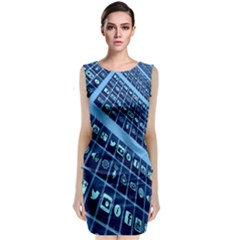 Mobile Phone Smartphone App Classic Sleeveless Midi Dress