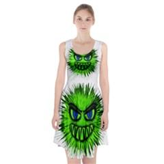Monster Green Evil Common Racerback Midi Dress