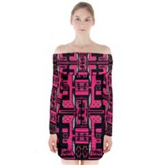 Hnhnhnhnhnhnhn Long Sleeve Off Shoulder Dress