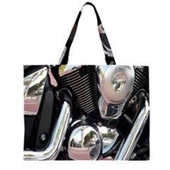 Motorcycle Chrome Technology Large Tote Bag