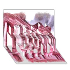 Oldway Mansion Paignton Devon Miss You 3D Greeting Card (7x5)