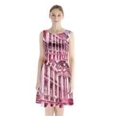 Oldway Mansion Paignton Devon Sleeveless Chiffon Waist Tie Dress