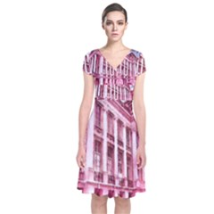 Oldway Mansion Paignton Devon Short Sleeve Front Wrap Dress