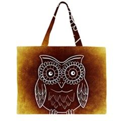 Owl Abstract Funny Pattern Large Tote Bag