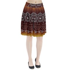 Owl Abstract Funny Pattern Pleated Skirt