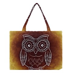Owl Abstract Funny Pattern Medium Tote Bag