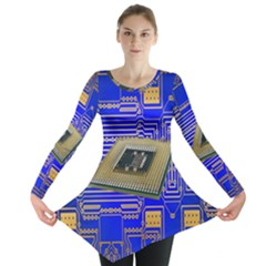 Processor Cpu Board Circuits Long Sleeve Tunic