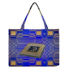 Processor Cpu Board Circuits Medium Zipper Tote Bag