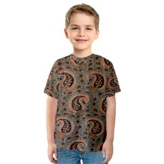 Persian Silk Brocade Kids  Sport Mesh Tee