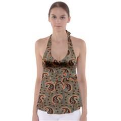Persian Silk Brocade Babydoll Tankini Top