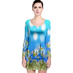 Pisces Underwater World Fairy Tale Long Sleeve Bodycon Dress