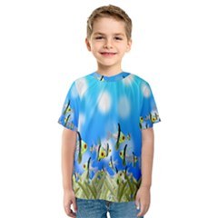 Pisces Underwater World Fairy Tale Kids  Sport Mesh Tee