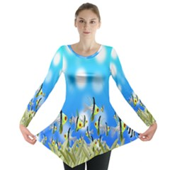Pisces Underwater World Fairy Tale Long Sleeve Tunic