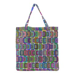 Psychedelic 70 S 1970 S Abstract Grocery Tote Bag