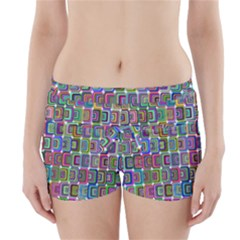Psychedelic 70 S 1970 S Abstract Boyleg Bikini Wrap Bottoms