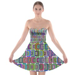 Psychedelic 70 S 1970 S Abstract Strapless Bra Top Dress