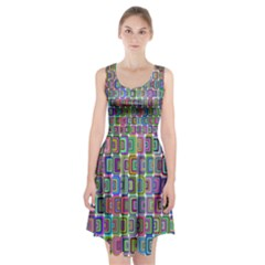 Psychedelic 70 S 1970 S Abstract Racerback Midi Dress