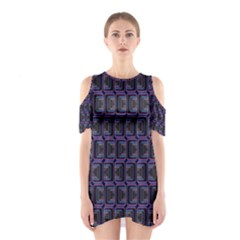 Psychedelic 70 S 1970 S Abstract Cutout Shoulder Dress