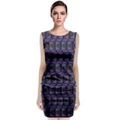Psychedelic 70 S 1970 S Abstract Classic Sleeveless Midi Dress