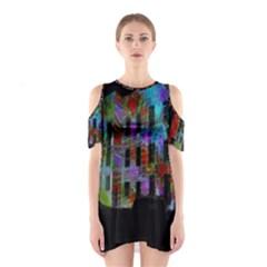 Science Center Cutout Shoulder Dress