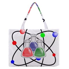 Science Symbol Medium Zipper Tote Bag