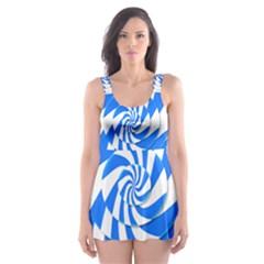 Swirl Skater Dress Swimsuit