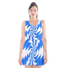 Swirl Scoop Neck Skater Dress