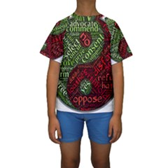 Tao Duality Binary Opposites  Kids  Short Sleeve Swimwear