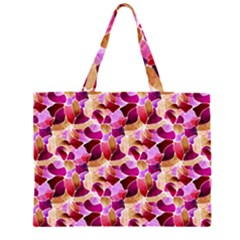 Fuchsia Flowered Large Tote Bag