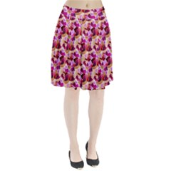 Fuchsia Flowered Pleated Skirt