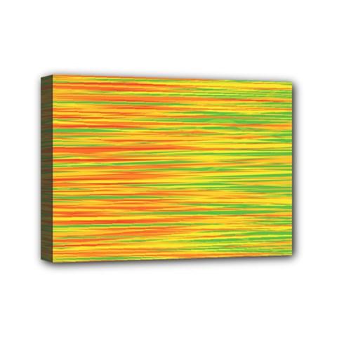 Green and oragne Mini Canvas 7  x 5