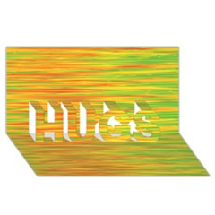 Green and oragne HUGS 3D Greeting Card (8x4)