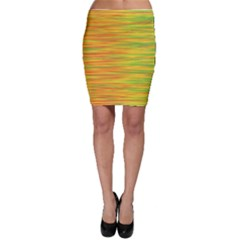 Green and oragne Bodycon Skirt